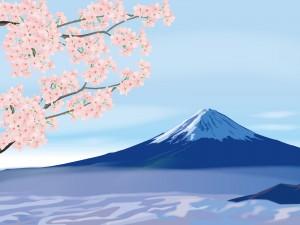 394274 富士山と桜