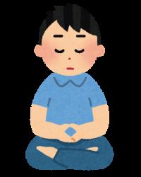 zazen_man 座禅 瞑想