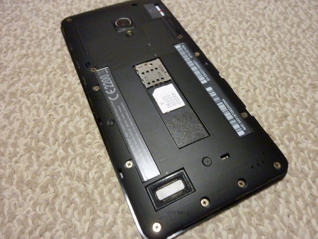 2016-06-09 23.17.20 SIM 取り付け Zenfone5