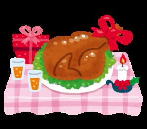 クリスマス チキンの丸焼き