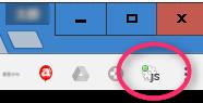 Chrome ボタン (Javascript on)