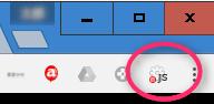 Chrome ボタン (Javascript off)