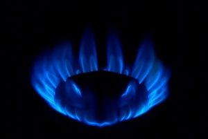 ガスコンロ ガスの火