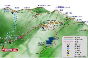 大菩薩嶺コースマップ