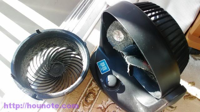 サーキュレーター、アイリスオーヤマ 分解掃除、汚い
