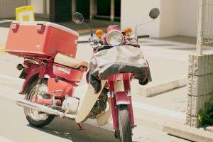 郵便局のバイク