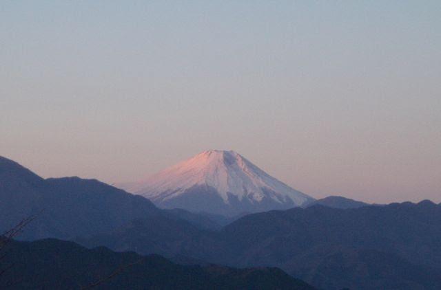 高尾山からの紅富士