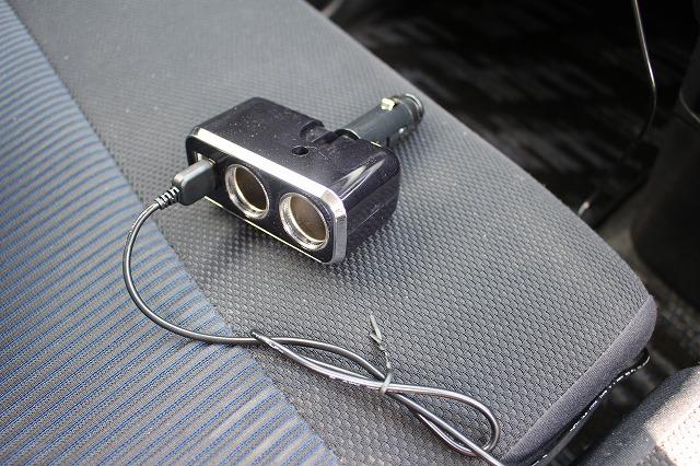 車載  USB電源 シガーソケットから